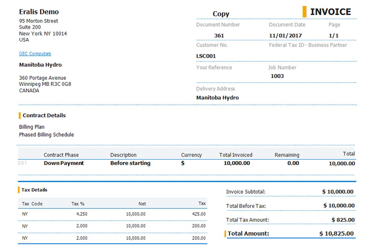 job contract based invoice thumbnail