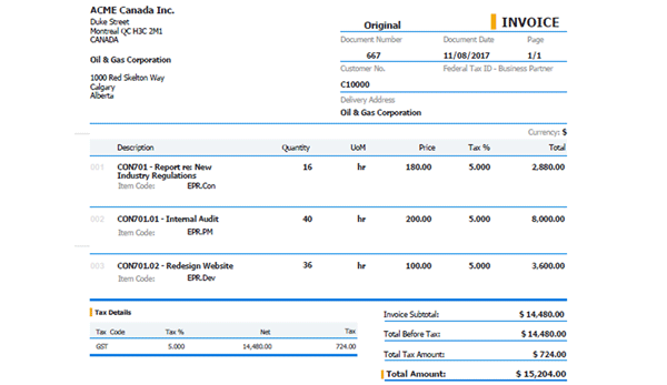 Project consolidated invoice thumb